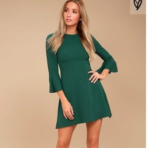 Center of Attention Forest Green dress